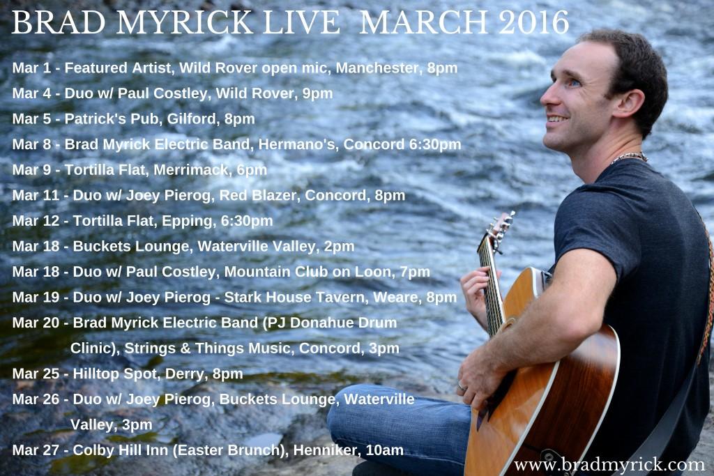 Brad Myrick Live - March 2016